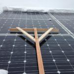 太陽光パネルの雪下ろし