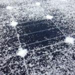 太陽光パネルの雪の溶け方