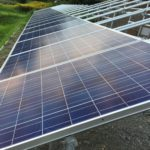 DIY太陽光発電所増設のパネル設置状況